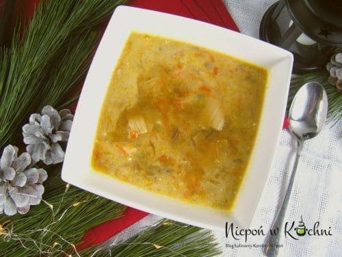 Zupa grzybowa z jarzynami