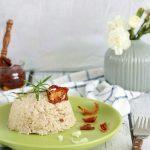 Risotto z kalafiorem i suszonymi pomidorami