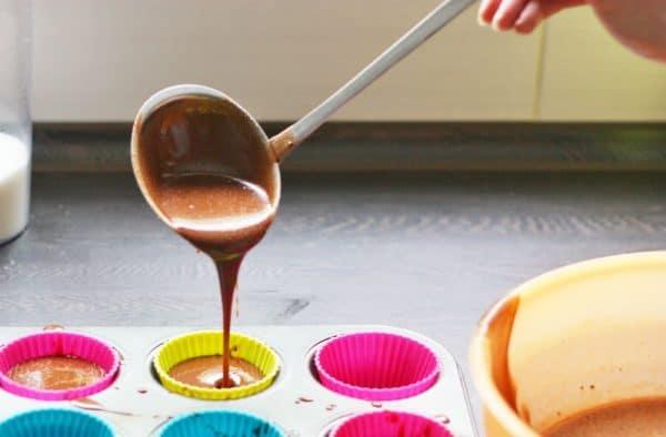 Muffinki brownie wegańskie bezglutenowe z aquafabą