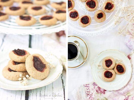Ciasteczka migdałowe z dżemem bezglutenowe i wegańskie