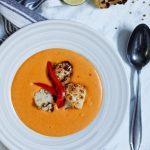 Zupa krem z papryki i soczewicy