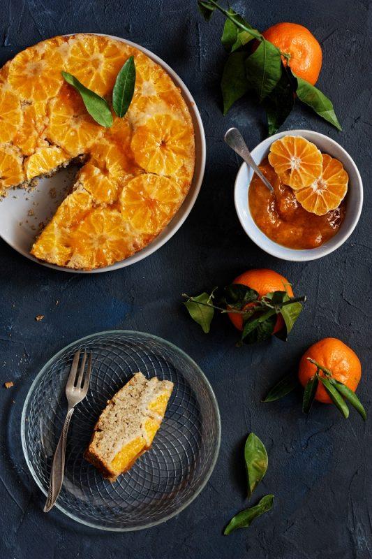Wegańskie i bezglutenowe ciasto z klementynkami odwracane