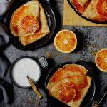 Naleśniki crepes suzette bezglutenowe wegańskie i bez cukru