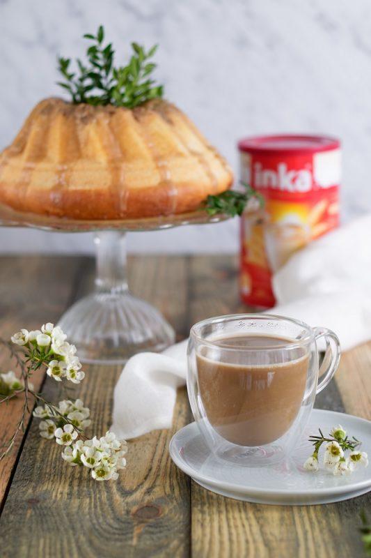 Wegańska babka drożdzowa z kawowym lukrem