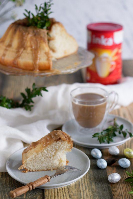 Wegańska babka z kawowym lukrem