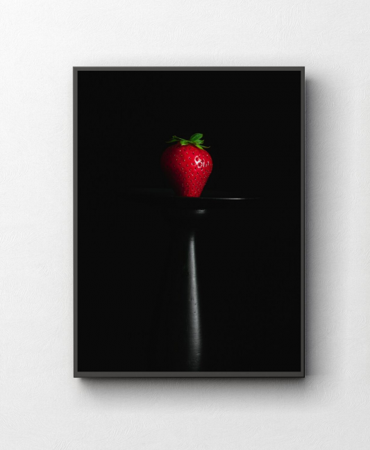 Truskawka fotografia kulinarna obraz na ścianę