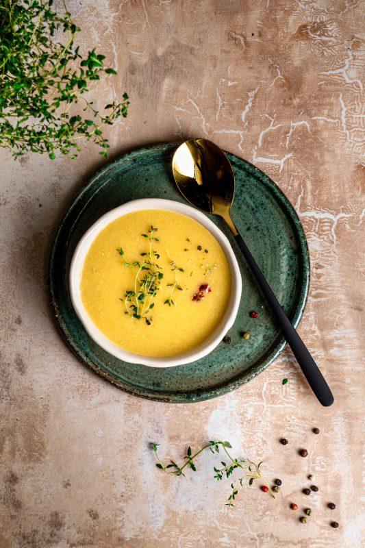 Zupa krem z warzyw z kaszą jaglaną